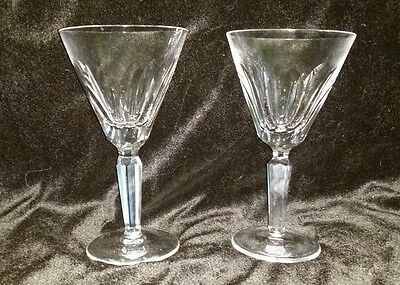 "Waterford Cut Crystal Sheila  Water Goblets SET OF 2 GLASSES 7"" Tall EXCELLENT"