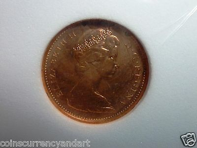 1965 Canada One cent RED High Grade PL (proof like)