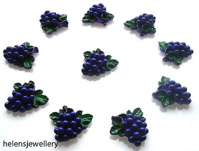 10 Gorgeous Grapes Flatback Cabochons Kawaii Decoden - Fast Free Shipping