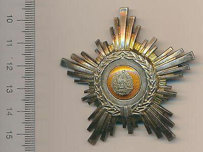 ROMANIA Communist ORDER Star RPR 5th Class Romanian SILVER Medal with hallmarks