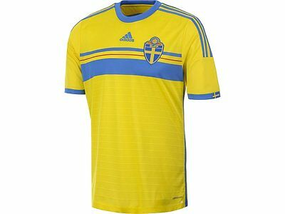 RSWE06j: Sweden boys shirt brand new official home jersey 14-15 top tee