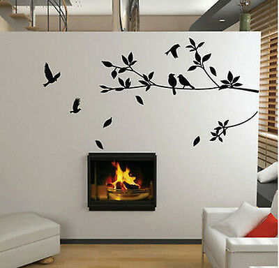 Bird Tree Vinyl Wall Sticker Removable Mural Decal DIY Art Kids Room Home Decor