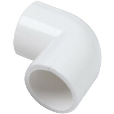 5 Pieces 20mm Dia 90 Angle Degree Elbow PVC Pipe Adapter White WS
