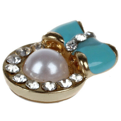 Pearl Bow Tie Home Return Keys Buttons Sticker For iPhone 4S 5 iPod iPad WS