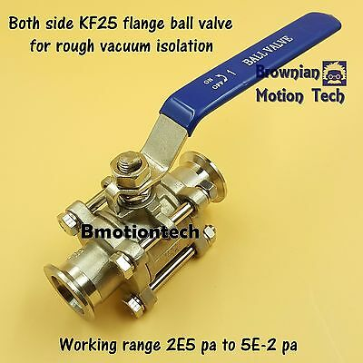 Ball Valve for rough vacuum isolation, both sides KF25 flange, SS304