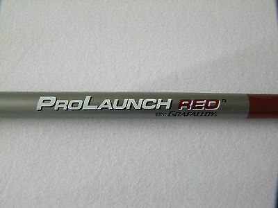 Grafalloy Pro Launch Red Graphite Wood Shafts in Reg or Stiff Flex Pre Spined