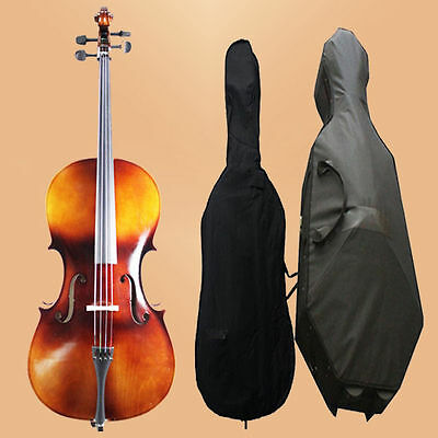 NAOMI CELLO  4/4 Size Cello W/Case + BAG  Beginner Pack 4/4 CELLO SET -VINTAGE