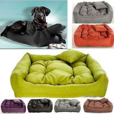 Luxury Soft Comfy Dog Cat Pet Warm Sofa Bed Cushion Extra LARGE up to 130cm
