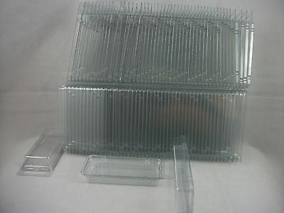 50 CLAMSHELL BLISTER PACKS CLEAR BOXES HANGING PACKAGING Jewelry Display Retail