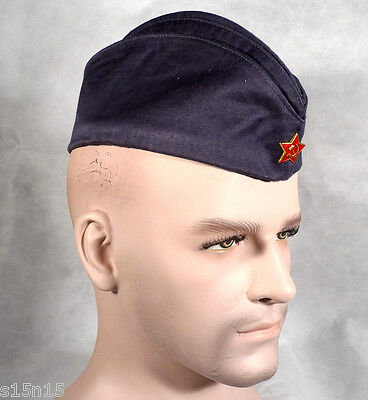 SOVIET ARMY AIR FORCE CAP SOLDIER UNIFORM COLD WAR+ RED STAR INSIGNIA size 59