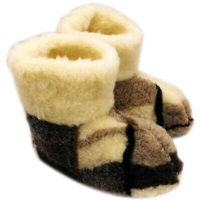 Genuine Sheep  Wool Slippers Boots Men's Warm New