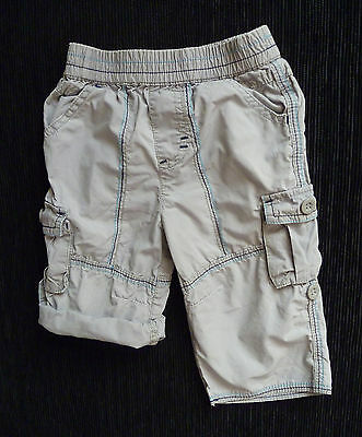 Baby clothes BOY 6-9m lightweight beige cotton trousers/shorts 2nd item postfree