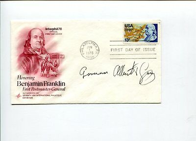 Albert V. Casey Postmaster General American Airlines CEO Signed Autograph FDC