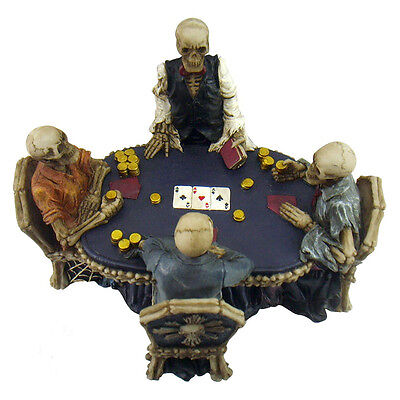 Skeleton Poker Game Figurine Ornament - Nemesis Now - Gothic Gift -16cm