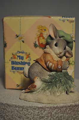 My Blushing Bunnies - Wintertime Blessings - Bunny with Tree and Bird - 178616