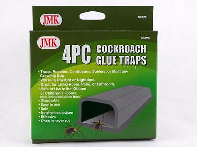 Cockroach Glue Traps 4pcs Centipedes Spiders Beetles No Chemical Poison 1pack