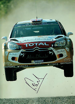 Kris MEEKE SIGNED WRC Rally Car AUTOGRAPH 16x12 HUGH RARE Photo AFTAL COA