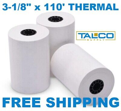 """3-1/8"""" x 119' THERMAL PoS RECEIPT PAPER - 6 NEW ROLLS  ** FREE SHIPPING **"""