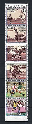 PARAGUAY 1986 STRIP MiNr: 3977 - 82 ** SOCCER WORLD CUP MEXICO