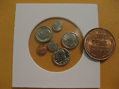 U.S. Coin Miniature collection dollar to penny all 6 coins  take a look  Modern