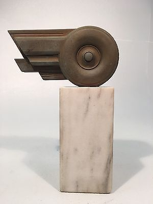 1983  Art Deco Style Goodyear Tire Award Trophy on Marble