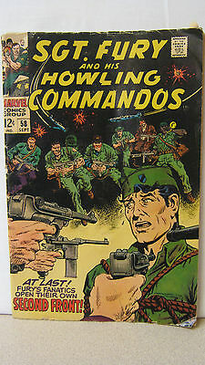 Marvel Comics Sgt Fury & His Howling Commandos 1968 Silver #58 Not Graded