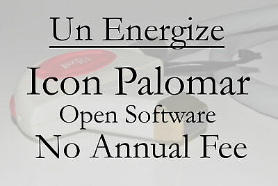 UN ENERGIZE YOUR ICON Palomar Cynosure Icon OPEN Software No Annual Registration