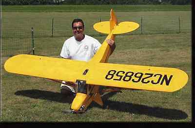 1/4 Scale Piper Cub 9 Foot   Giant Scale RC AIrplane Rolled Plans