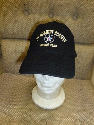 casquette noire 2nd INFANTRY DIVISION INDIAN HEAD ( NORMANDIE D.DAY USA JOUR J )