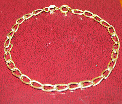 BEAUTIFUL  SECONDHAND 9ct YELLOW GOLD LINE BRACELET  18.5 cm