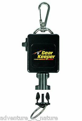 Gear Keeper Locking Large Flashlight & Camera Retractor Stainless Steel RT3-0092