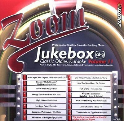 Zoom Karaoke Jukebox Series Volume 11 Classic Oldies CD + G New Sealed