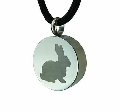 Rabbit Urn Pendant Necklace - Ash Cremation Jewellery - Engraving