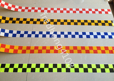"Square Reflective Self adhesive Hazard Warning Tape Sticker 2"" 50mm Width"