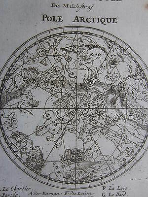 MALLET: Engraved Celestial Map Milky Way Constellations - 1685