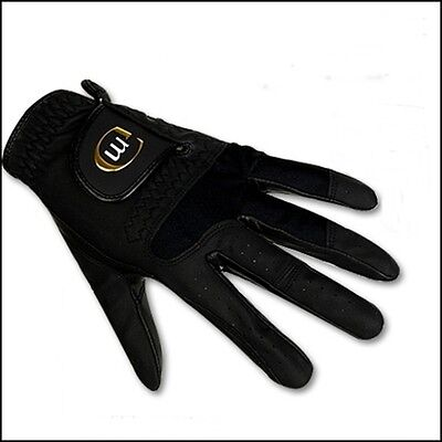 Black Golf gloves New Mens Left and Right Special Cabretta SS-L Meridian XLINE
