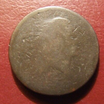 1793 Flowing Hair Large Cent, Lettered Edge, S-11c