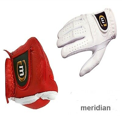 Both Women Youth Child Golf gloves New White Red Cabretta SS-XL Meridian XLINE