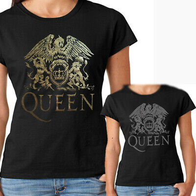 Camiseta chica mujer Queen t shirt women girl Freddy Mercury Silver ink