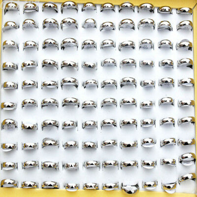 24pcsFashion Wholesale Jewelry Lots Unisex Stainless Steel Simple Band Ring