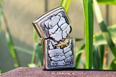 Zippo Lighter - Lizard Rock Surprise - European Release - Golden -  18K Gold
