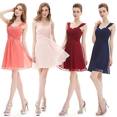 2016 Women Sexy Hot Short Bridesmaid Cocktail Party Prom Formal Dress 03539