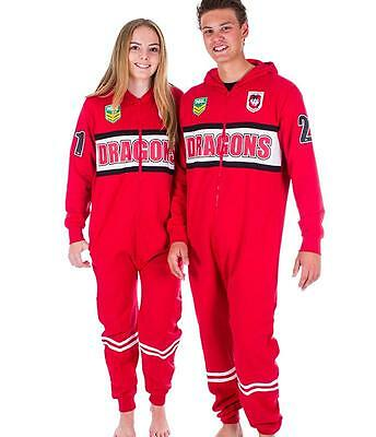 NRL Onesie Footy Suit - St George Illawarra Dragons - Infant Kids Youth Adult