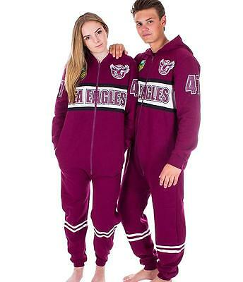 NRL Onesie Footy Suit - Manly Sea Eagles - Infant Kids Youth Adult - All Sizes