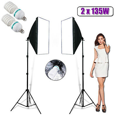 270W Photography Studio Continuous Lighting Softbox Soft Box Light Stand Kit