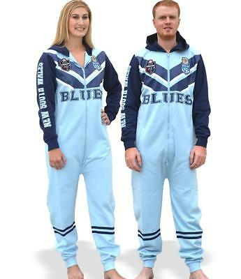 NRL Onesie Footy Suit - NSW Blues - Infant Kids Youth Adult - All Sizes