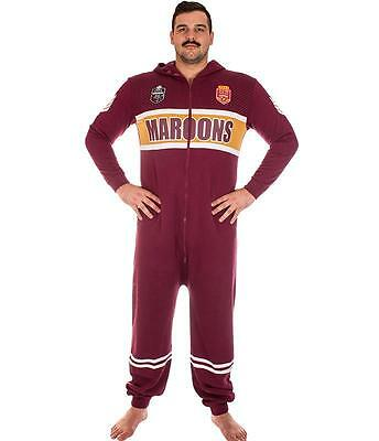 NRL Onesie Footy Suit - QLD Maroons - Infant Kids Youth Adult - All Sizes