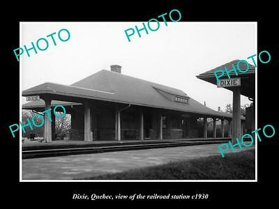 OLD LARGE HISTORIC PHOTO OF DIXIE QUEBEC CANADA, THE RAILWAY STATION c1930