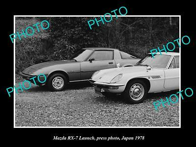 OLD LARGE HISTORIC PHOTO OF THE NEW MAZDA RX7 LAUNCH, JAPAN 1979
