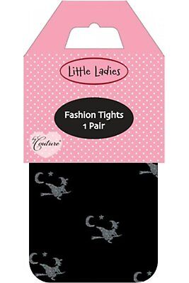 Silky Little Ladies Glitter Witches Tights